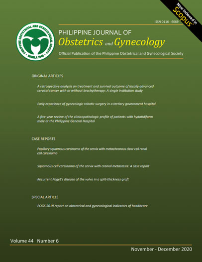 Philippine Journal of Obstetrics and Gynecology